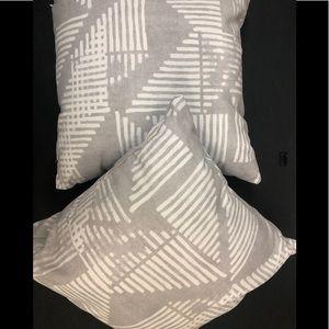 Stripe triangle block print GW Accent pillow.